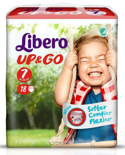 Libero Памперс гащи UP& GO XL+ р-р 7 /16-26 кг/  18бр  6302